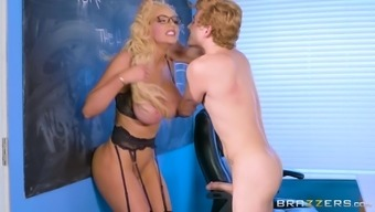 Nicolette Shea Is Basically A Perverted Instructor Longing An Assembled Cock