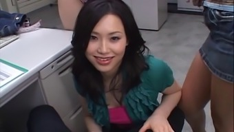 Person-In-Charge Consists Of A Quartet Along With Japanese People Penis Making Out Business Office Hookers
