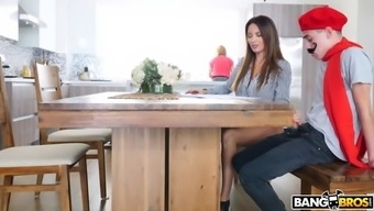 Anissa Kate Handjobs Her Pupil With His Fantastic Mum Is None The More Clever