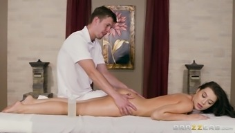 Lana Rhoades Gets Oilled And Massaged On The Table
