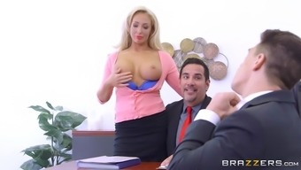 Olivia Coyote Utilizing Her Big Titties To Guarantee New Talents For The Business