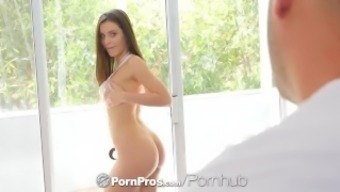 Pornpros Gorgeous Busty Lana Rhoades Teases Pussy Before Fuck