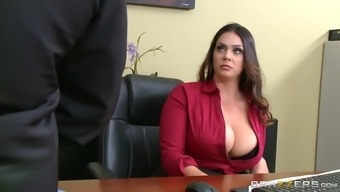 Alison Tyler Has Ceo'S Teenager Eat Her Starved Pussy Lower Working Desk