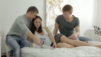 Tempting Younger Blond Zarina Gets Romantic Together Man With His Fantastic Close Friend