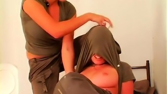 Older Girlfriend Or Wife Gets Gagged And Completely Outclassed By Little Hooker
