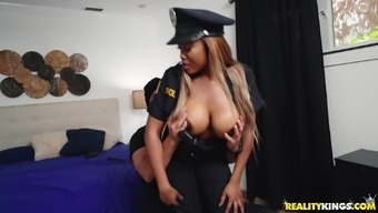 Moriah Erica Is A Policewoman With The Use Of Large Boobs Positioned For A Cock