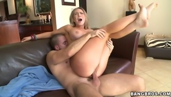 Kagney Linn Karter Gets Her Pussy Face Lengthened With The Use Of Every Stroke Of The Cock