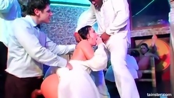 Jenny Lee Connects A Good Number Of Attractive Close Friends For Your Orgy On A Wedding