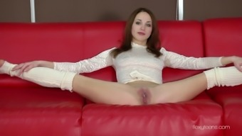 Lithe Beauty Anna Nebaskowa Spreads Her Legs Simultaneously To Bare Her Stormy Cunt