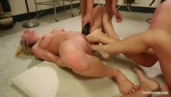 Great Leg Fisting Lesbian Orgy By Using Four Wicked Whores
