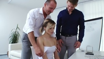 Charming Pigtailed Czech Date Ria Sunn Normally Takes Twice Cock Invlovement (Fmm)