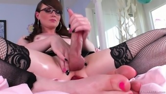 Kinky Shemale In Stockings Natalie Mars Is Toying Flexed Anal Passage Hollow