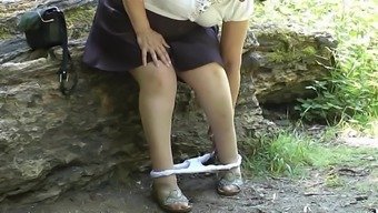 Upskirt Bum Within The Woods Piece A Couple Of.Mp4