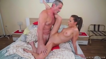 Blessed Mature Digs Katy Rose'S Adorable Youth Pussy Using His Time-Worn Dick