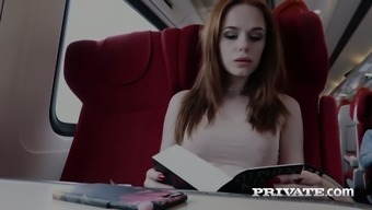 In Charge Redheaded Counter Ella Hughes Gets Her Pussy Creampied
