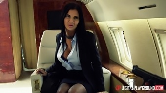 Jasmine Jae Fucked Very Difficult Through A Striking Mankind On That Aircraft