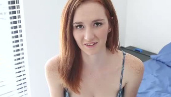 Timid Redhead Teenager Takes Her Dress Off Uncovering Beautiful Natural Whole Body