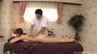 Japanese People Model Through Use Of An Arousing Whole Body Gets An Exotic Massage Session