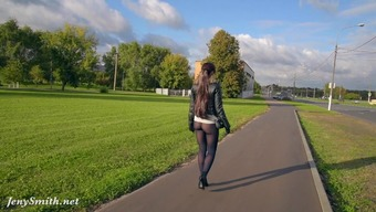 Jeny Smith Pantyhose Irregular Government Departments Stadium. Rising Prices Buttocks And General Public Irregular