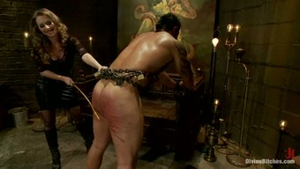 Encircled Stud Getting Crazily Spanked Before Pegging By Mistress That
