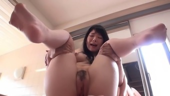 Far Eastern Slut With The Use Of Organic Boobs Gives A Blowjob And Titjob
