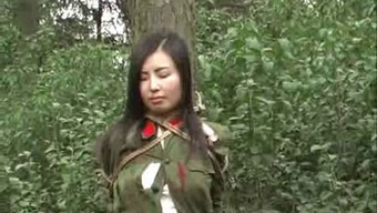 Chinese People Legion Girl Tied To Bush First