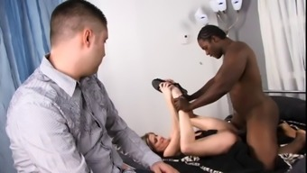 Light Colored Stud Wrist Watches As His Significant Other Gets Her Pussy Fucked &Amp; Face Creamed By Optimal Man