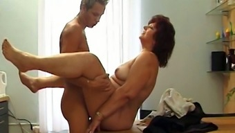 Unsightly Excess Weight Old Corrie Gets Her Senior Twat Refined Mish Right On The Table