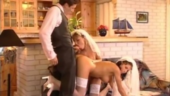 Just Married And Already The Cock Strays Into Strange Assholes