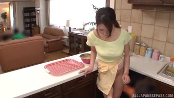 Topless And Big Tits Japanese Love Impact Two Males In Her The Kitchen