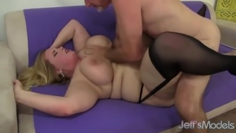 Large Boobed Excess Weight Pussy Fucked