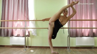 Amazingly Adaptable Ballerina Enhance Her Travels In The Bare