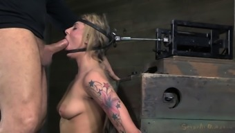 Lovely Dahlia Has To Blow Junk Whereas Bound To Your Love-Making Machine