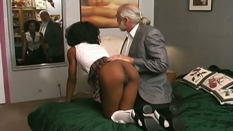 Naughty Professor Hits Her Slave Having The Leather Secure