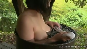 Adorable Japanese People Babe Takes A Great Bathroom Outdoor Inside A Wonderful Tale