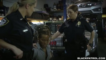 Lustful And Perverted Police Officers Fuck Striking Specialist In Threesome