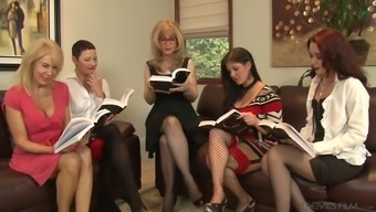 Nina Hartley Is Arguably One Bootylicious Senior Female And He Or She Treasures Lesbian Orgies