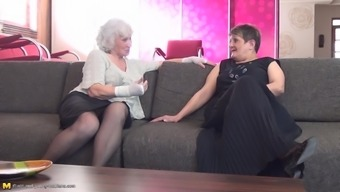 A Couple Of Grandmas And Their Apprentice Having A Bit Of Fun Simultaneously