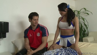 An Attractive Tranny Inside A Cheerleader Unvarying Gets Stupid Ass Fucked