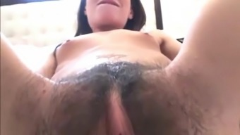 Fucking My Fitted Dear Along With Furry Clit And Small Titties