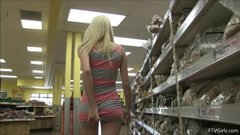 Charming Young Adult Blond Encounters A Banana With The Web Store To Effectively Fuck