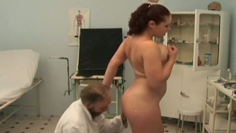 Busty Winger Hooker Fucks Attractive Old Doctor In His Office