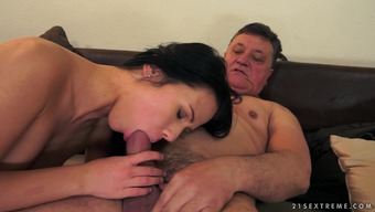 Denise Atmosphere Is Fucked By A Very Blessed With Good Luck Old Man Along With A Big Cock