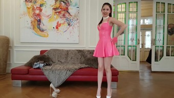 19 Years Of Age Rebecca Volpetti Hides Latex And High Pumps