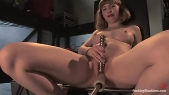 Astrid Acts Utilizing A Fucking Machine And Gets Many Orgasms