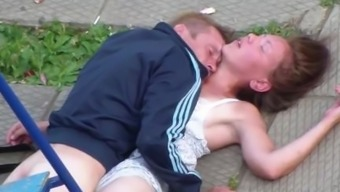 Drunk Number Of Making Love Publicly Park