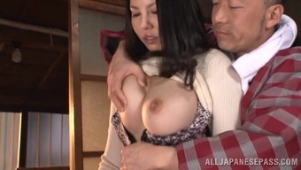 Filthy Old Guy Just Wishes To Blow This Big Tits Milfs Pussy