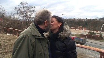 Gorgeous Czech Version Gets Fucked Using A Horny Old Guy Outside