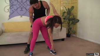 Her Qi Gong Coach Will Help Her Work Out Thereafter Sends Her His Prick