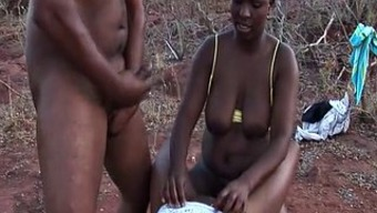 African Love-Making Trip Threesome Orgy